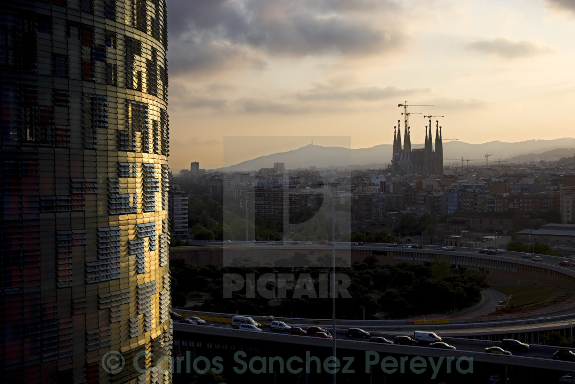 """View of Barcelona"" stock image"