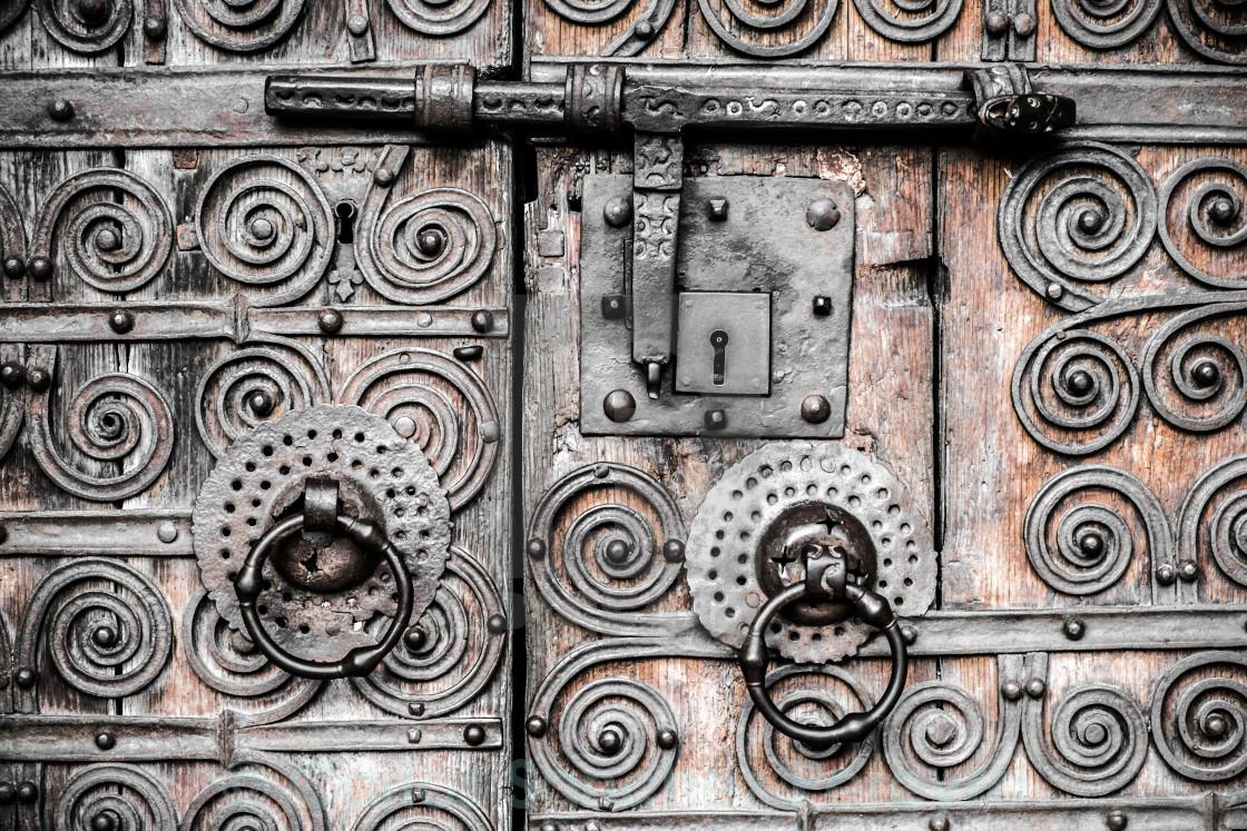 """""""old door detail"""" stock image"""