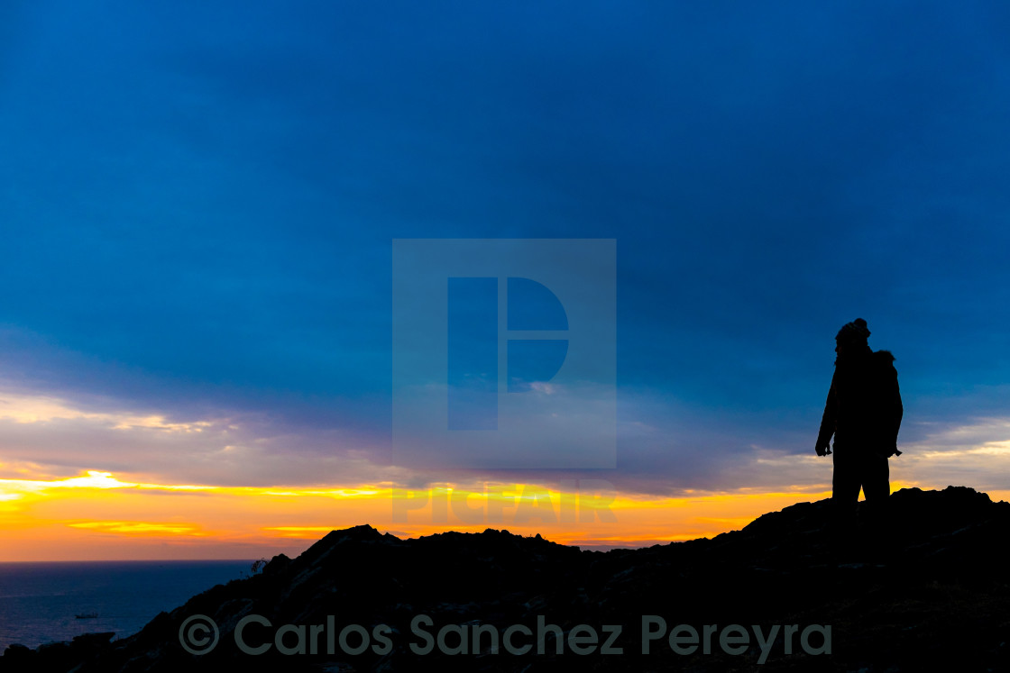 """Silhouette in Catalonia"" stock image"