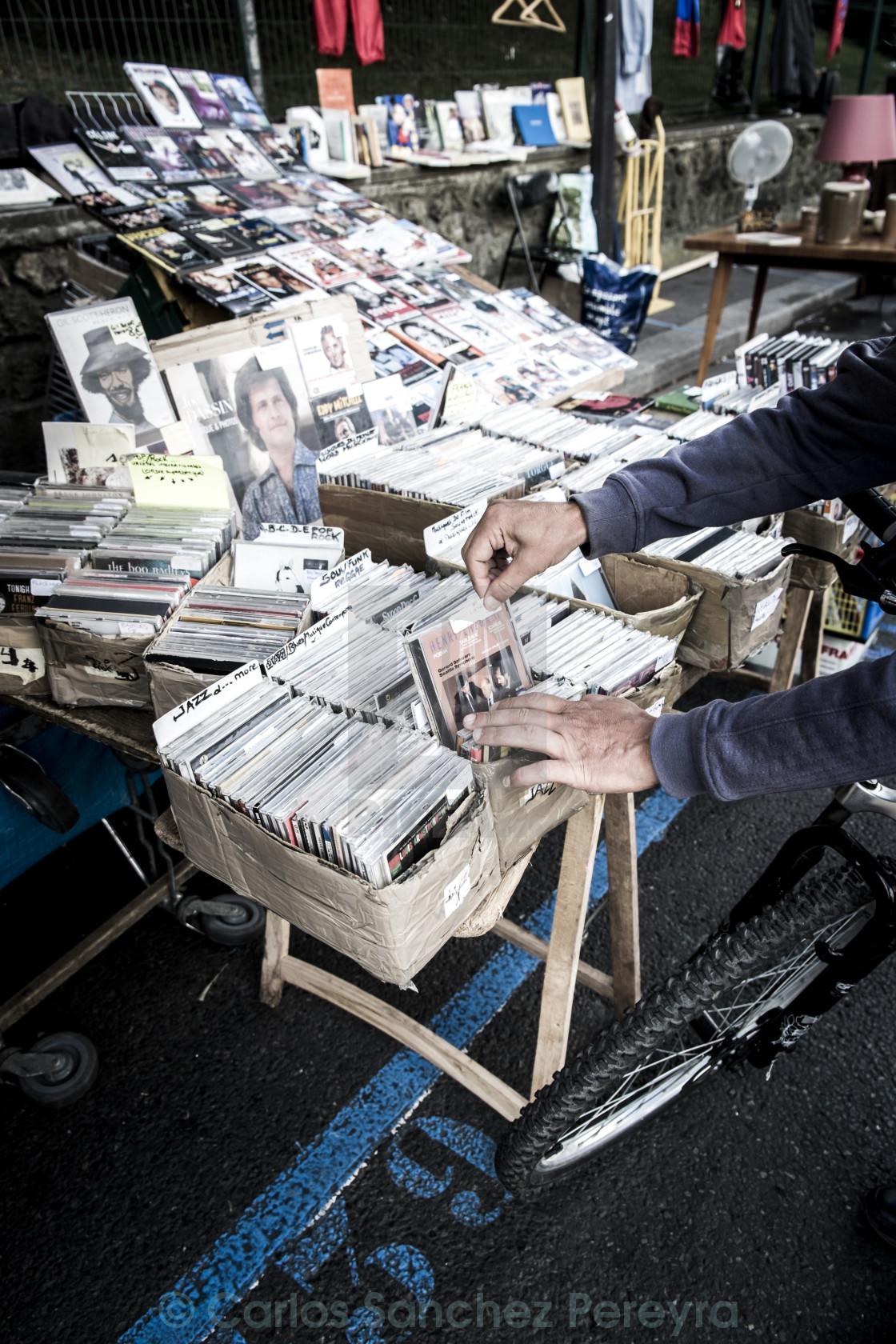"""""""Clignancourt market in Paris"""" stock image"""
