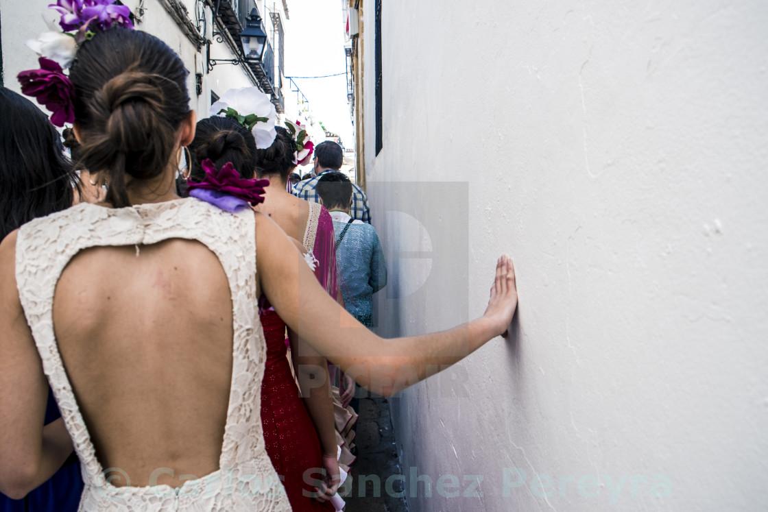 """Street in Cordoba, Andalusia, Spain"" stock image"