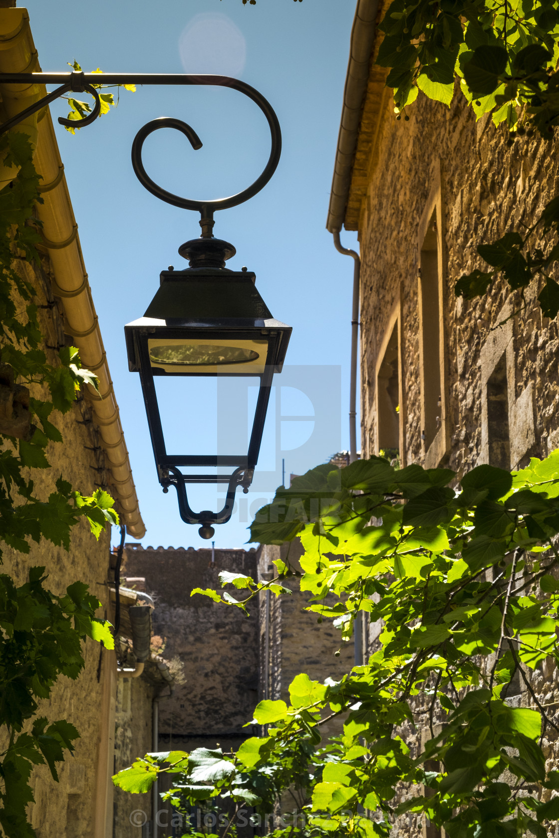 """""""Village of Bonnieux in the Provence France"""" stock image"""