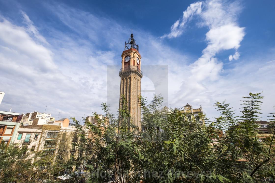 """""""Plaza de la Vila square in Gracia district"""" stock image"""