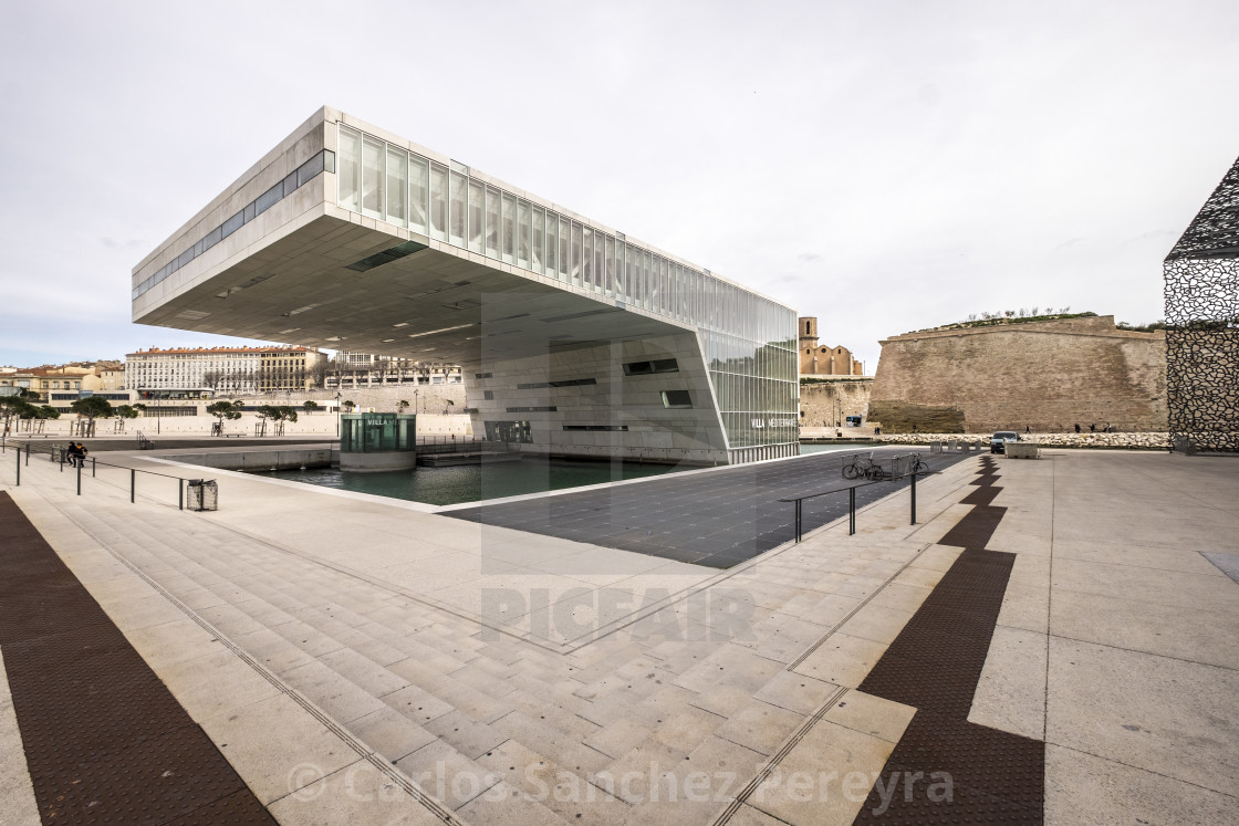 Contemporary Architecture In The Coast Of Marseille France License