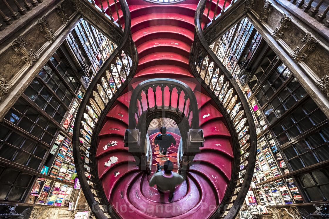 """""""Livraria Lello & Irmão bookstore"""" stock image"""