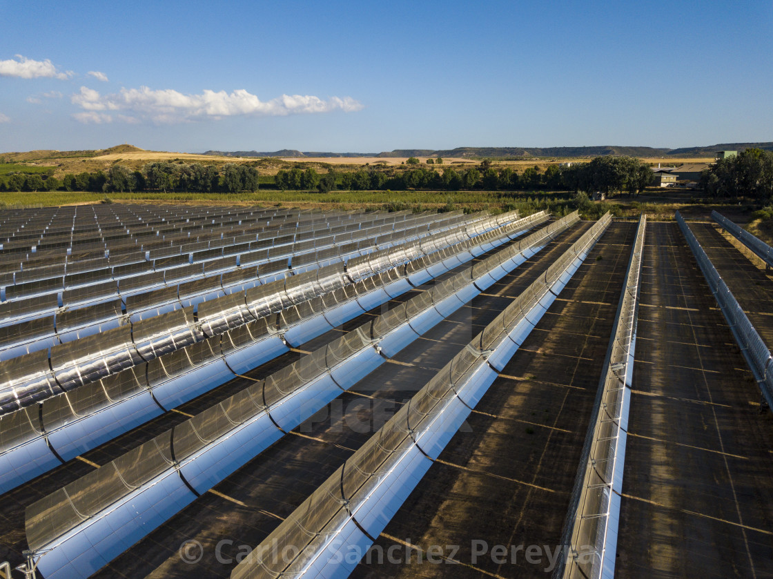 """Aerial view of solar power station"" stock image"