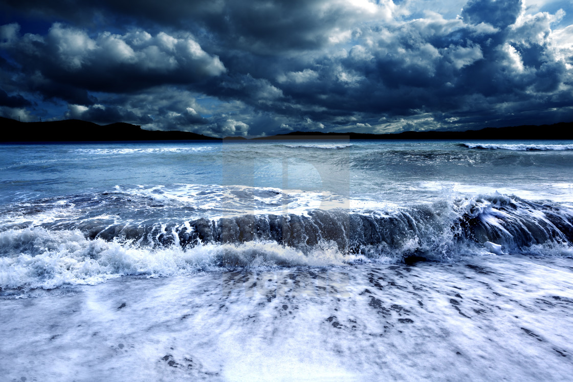 """""""Storm and sea.Cloudy landscape"""" stock image"""