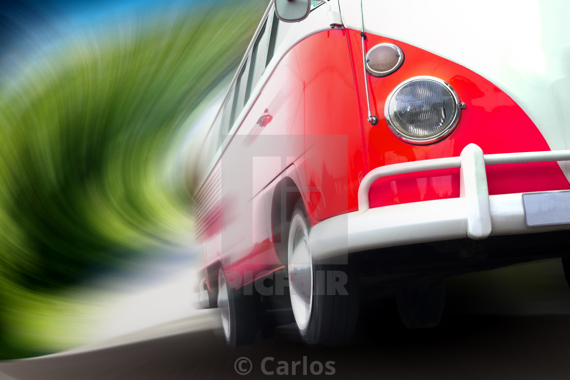 """Van travel concept.Speed on the road"" stock image"