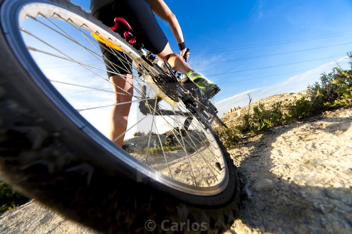 """""""Mountain bike.Sport and healthy life"""" stock image"""