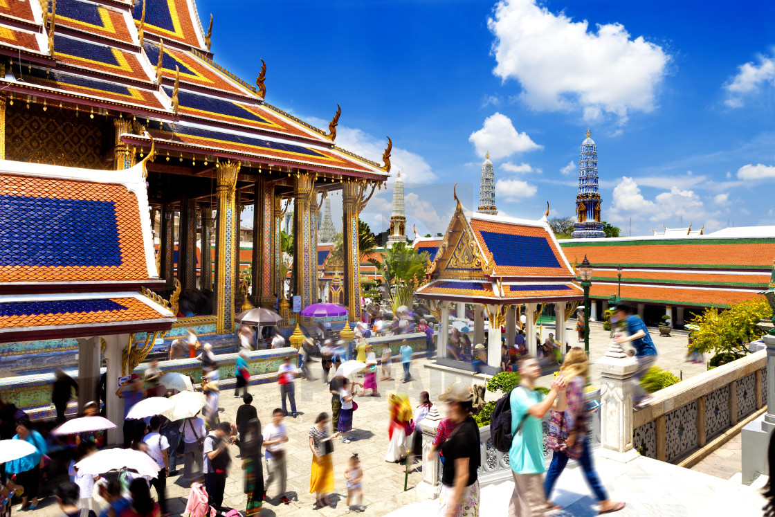 """""""Exotic travels and adventures .Thailand trip.Buddha and landmark"""" stock image"""