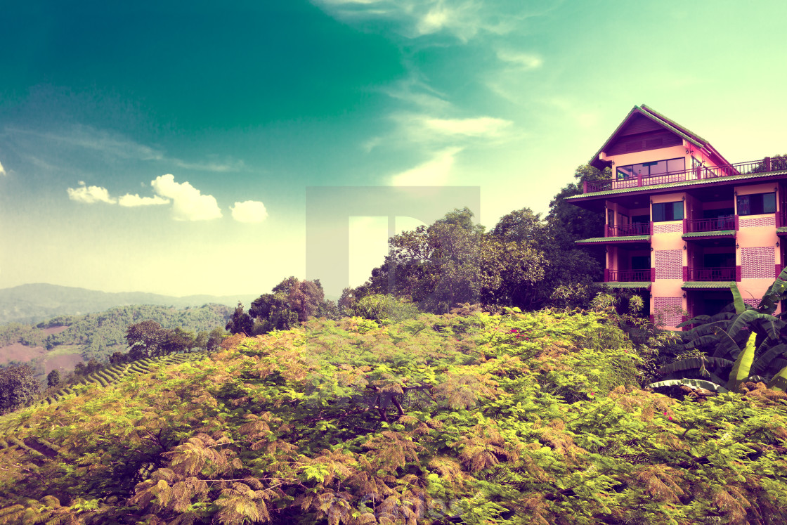 """""""Exotic travels and adventures .Thailand trip.Chiang Mai landmark"""" stock image"""