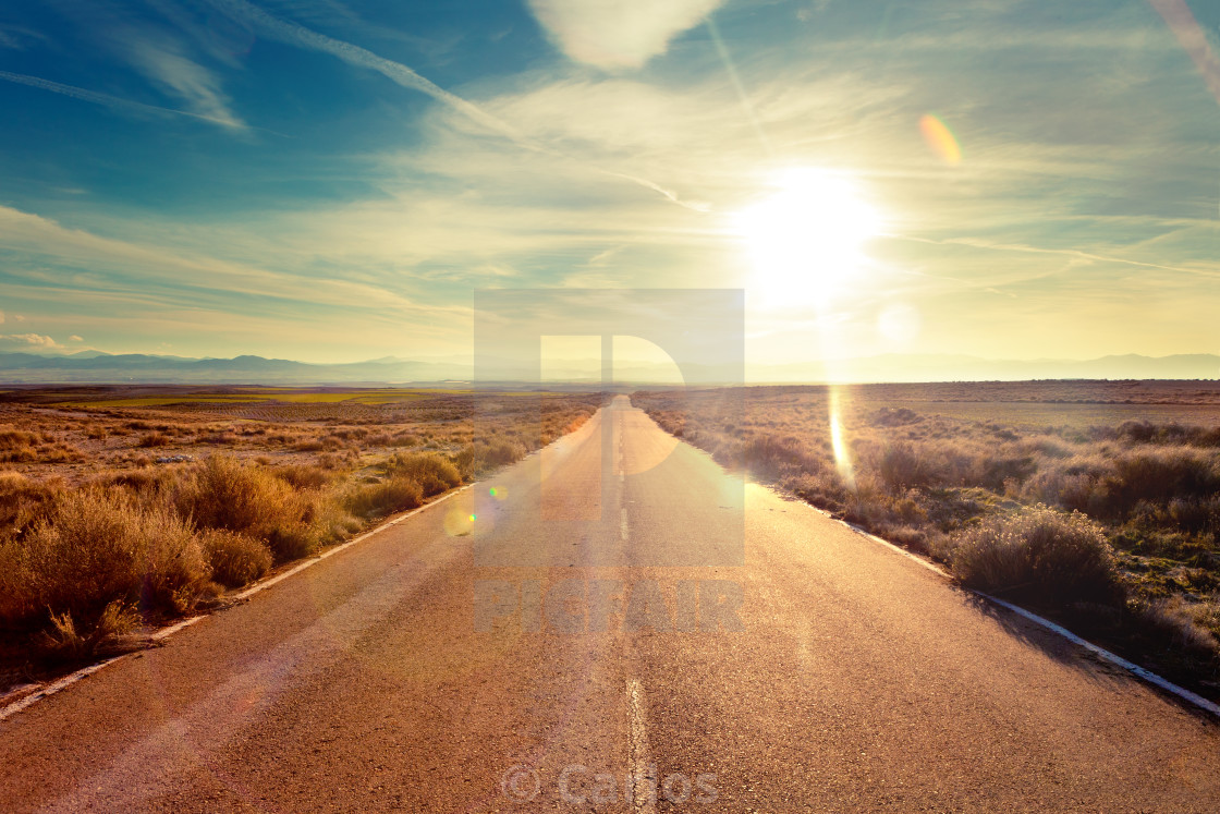 """Road travel concept.Car travel adventures."" stock image"