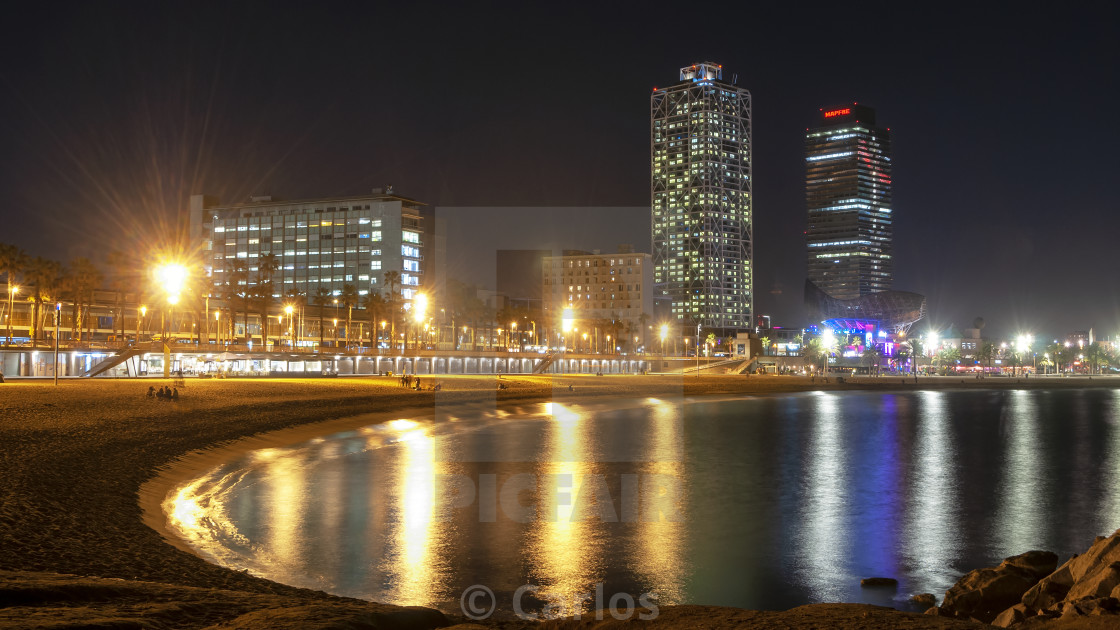 """Barcelona sea front"" stock image"