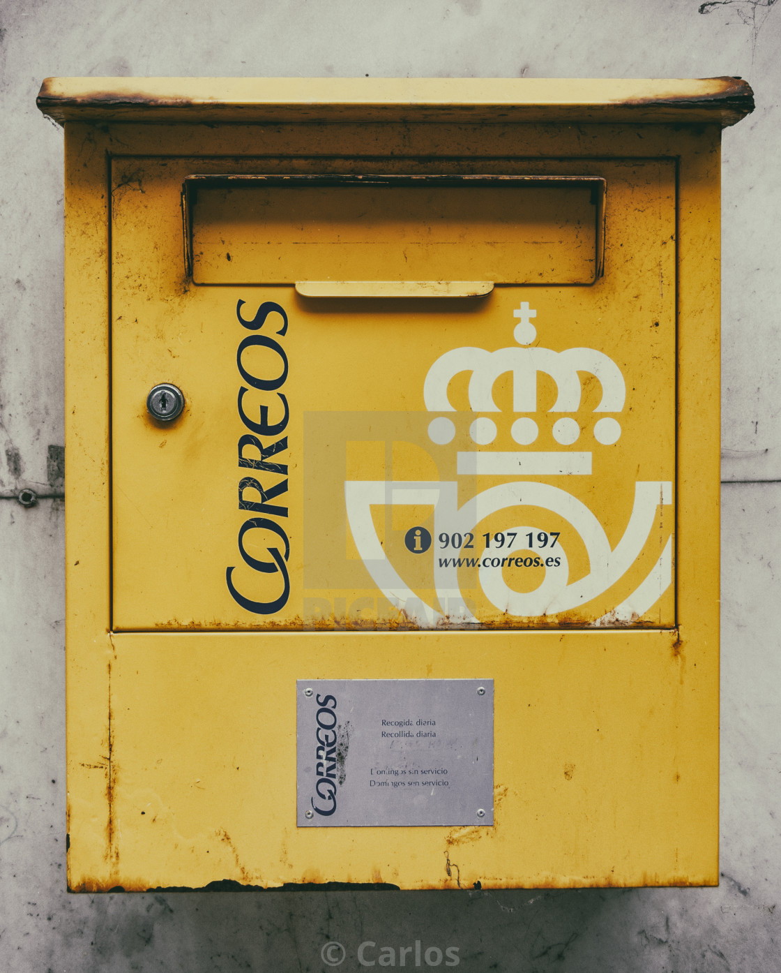 """The Post box"" stock image"