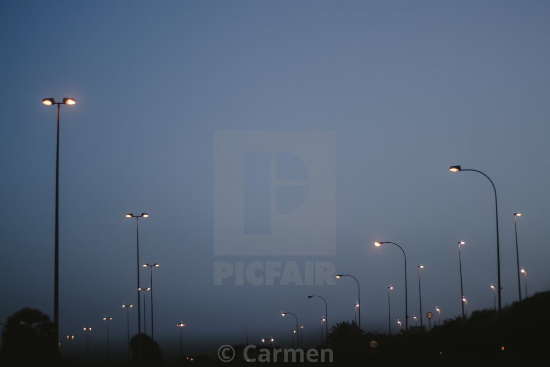 """Road lights"" stock image"