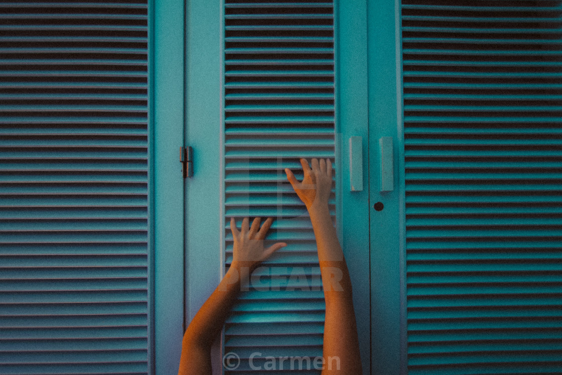 """Way out"" stock image"