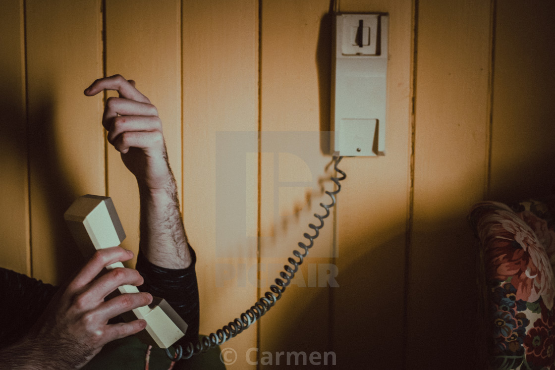 """""""The call"""" stock image"""