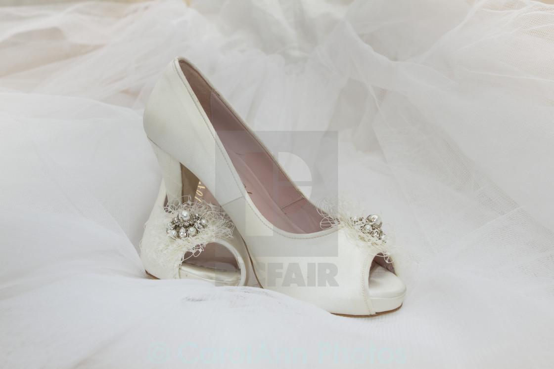 """Wedding shoes"" stock image"