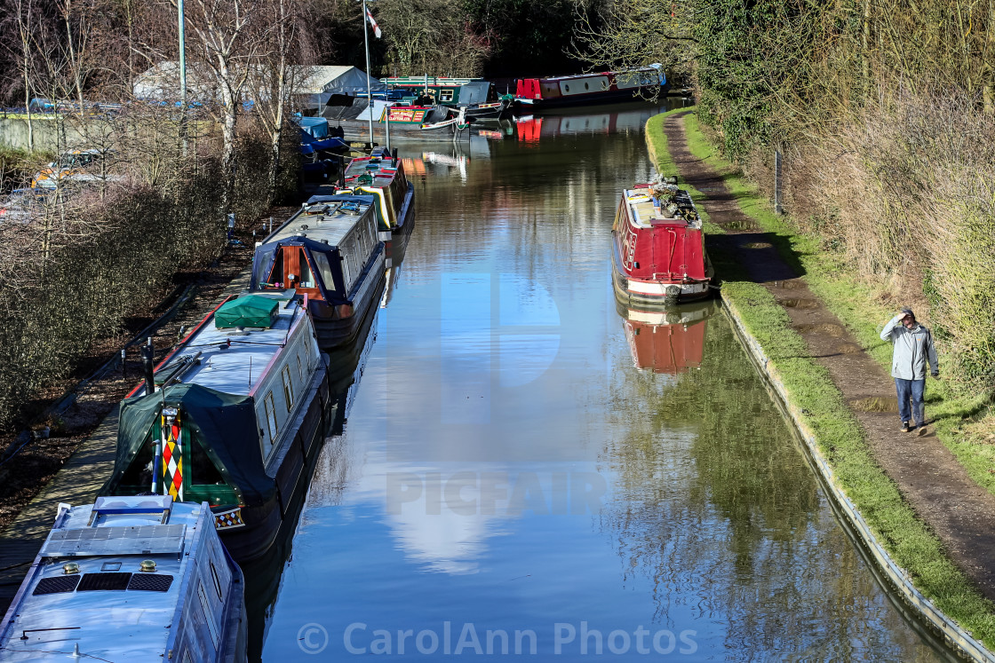 """A walk along the towpath"" stock image"