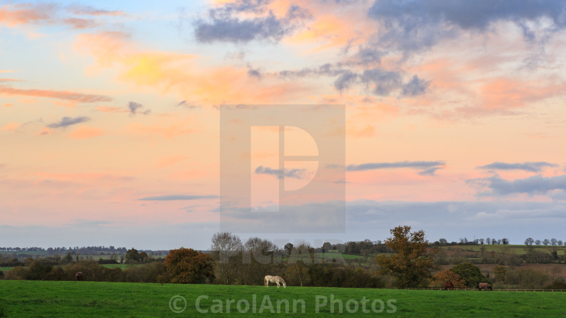 """Sunset sky"" stock image"