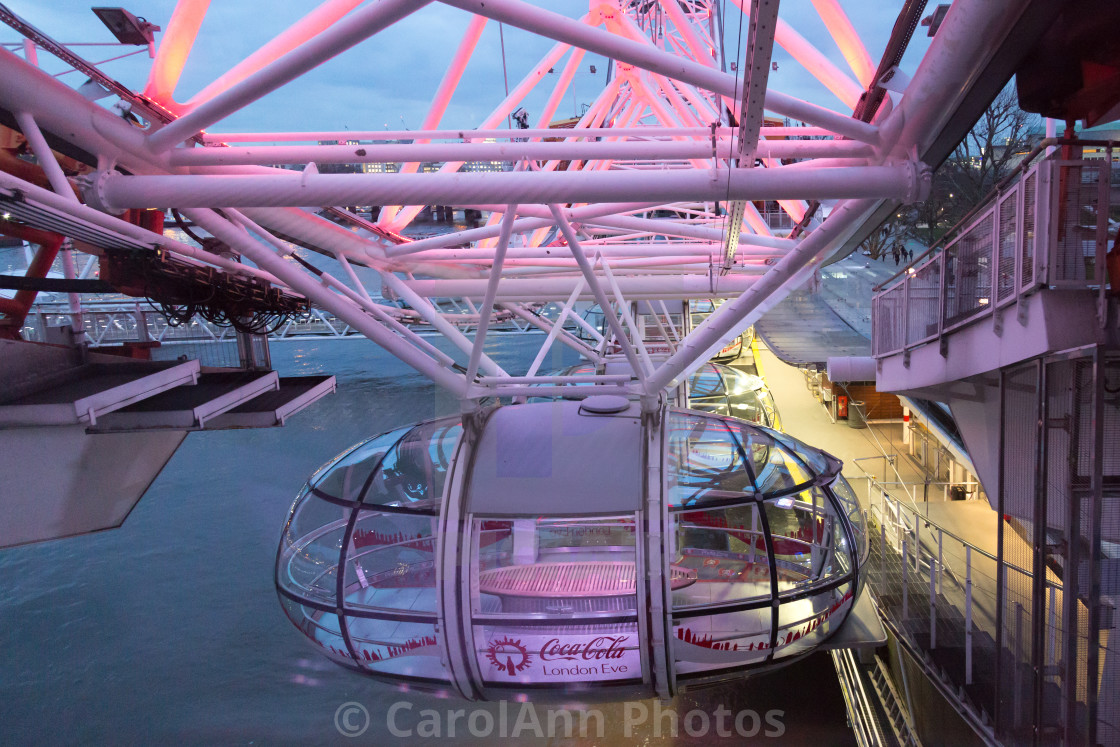 """London Eye: coming in to land"" stock image"
