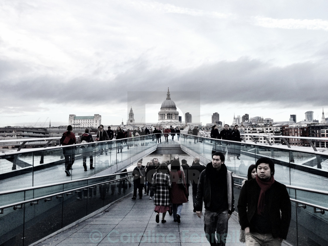 """The Path to St Paul's"" stock image"