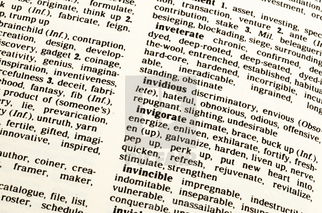 Page Of A Thesaurus License For 620 On Picfair