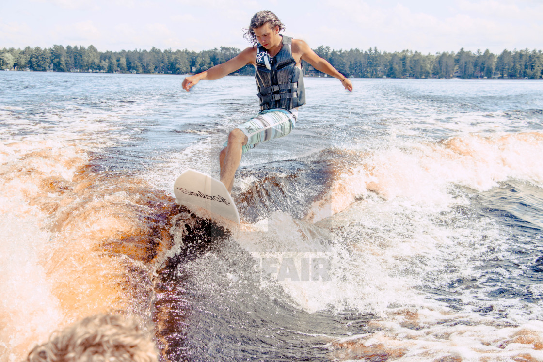 """Wake surfing wisconsin"" stock image"