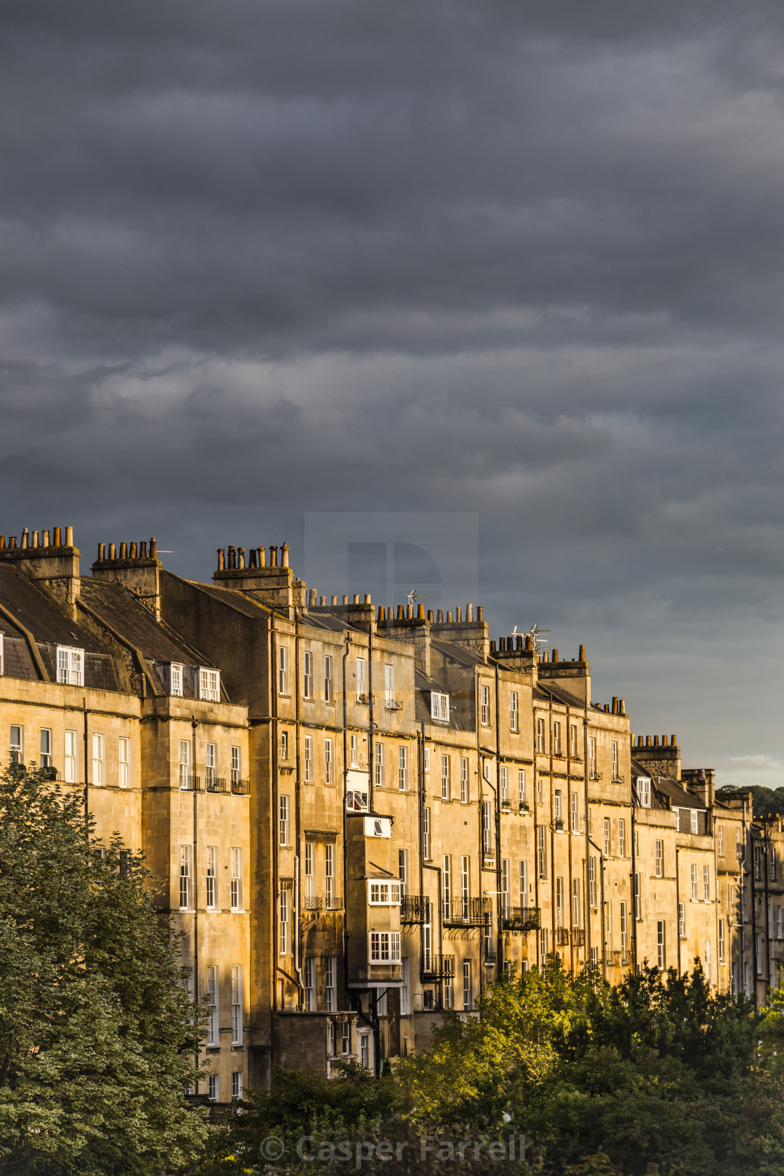 """""""Bath City in Rich Sunset"""" stock image"""