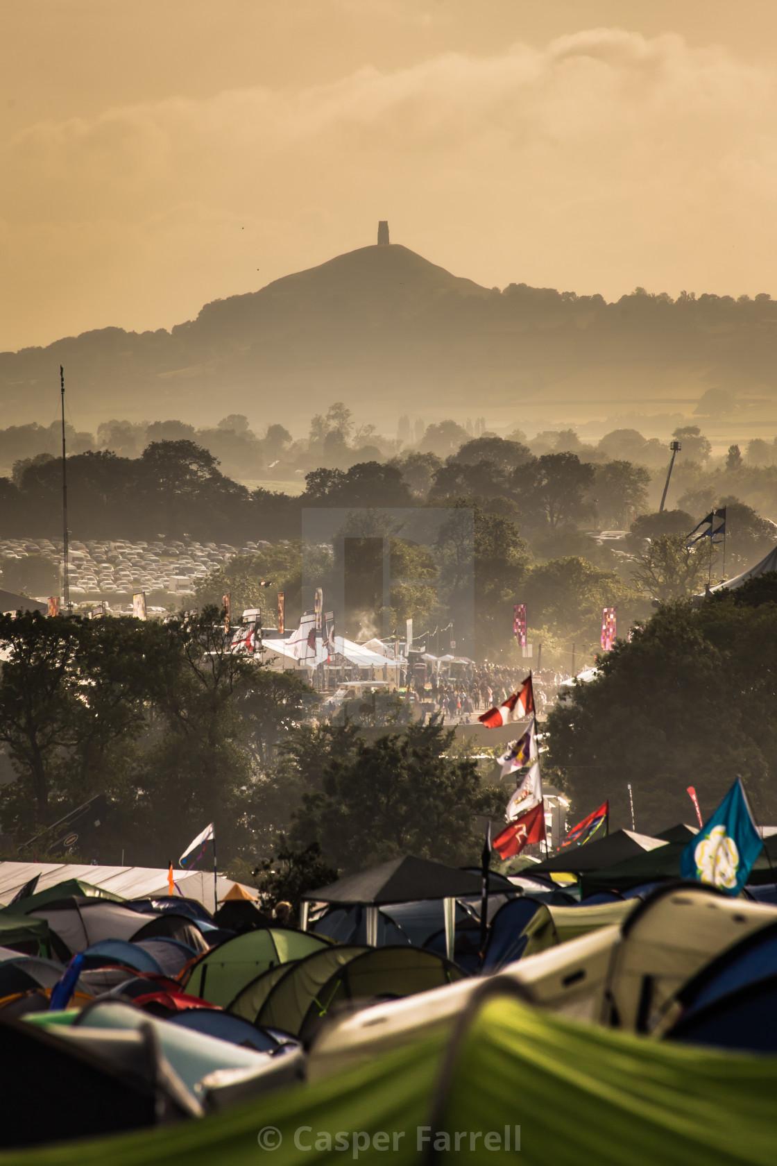 """Glastonbury Festival"" stock image"