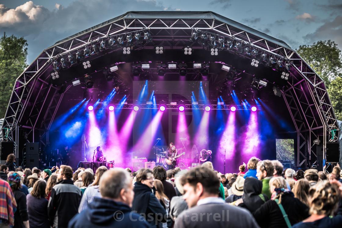 """Magic Numbers at Larmer Tree Festival 2015"" stock image"