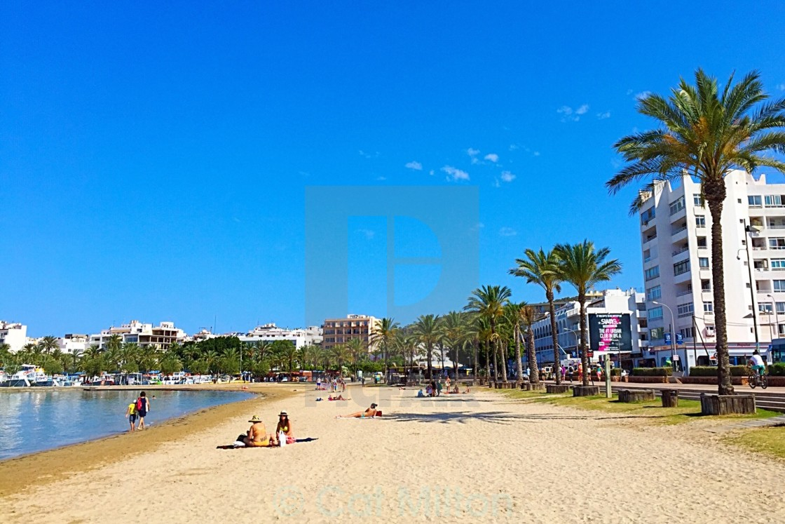 San Antonio Beach in Summer - License, download or print for