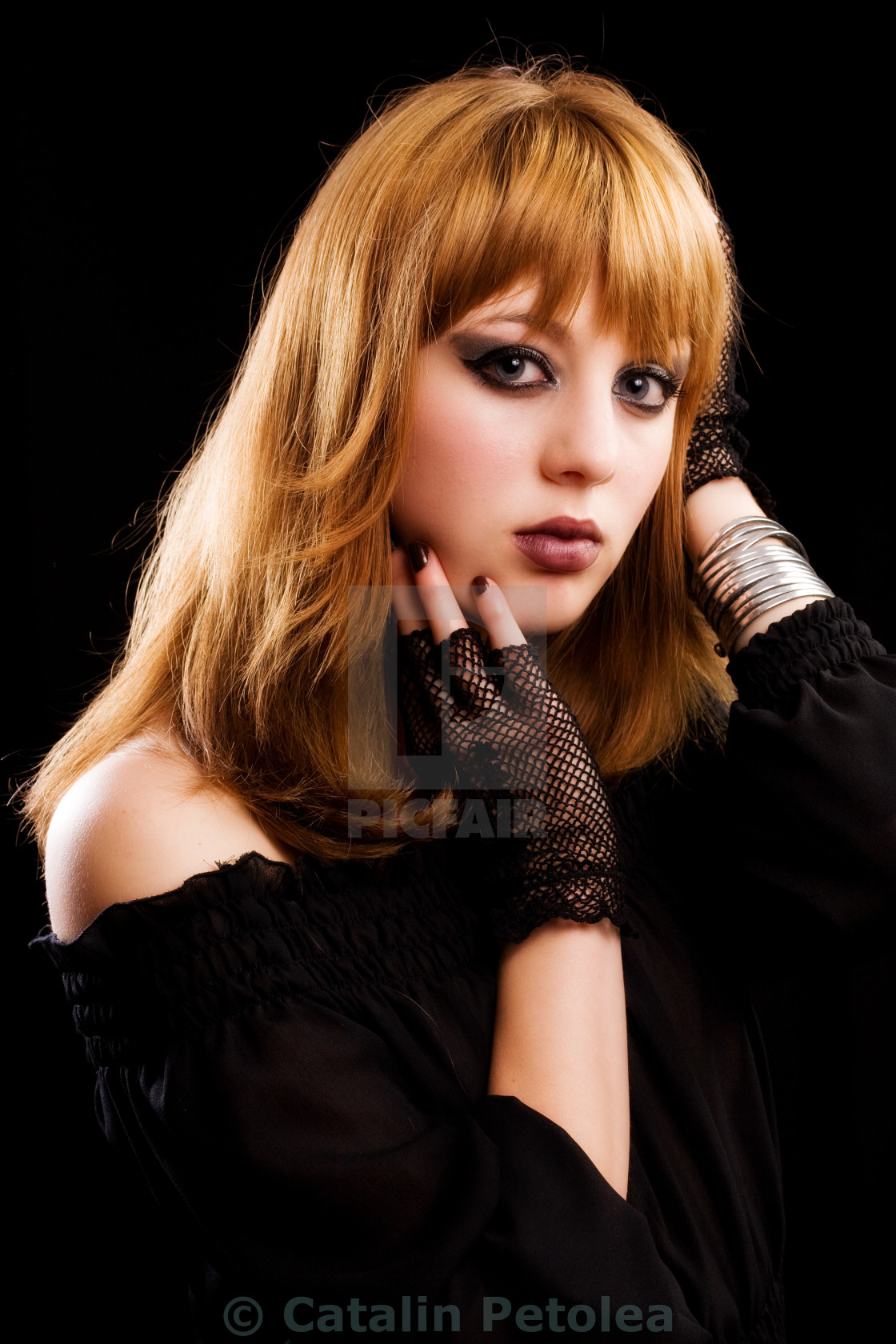 """""""Gothic or emo girl"""" stock image"""