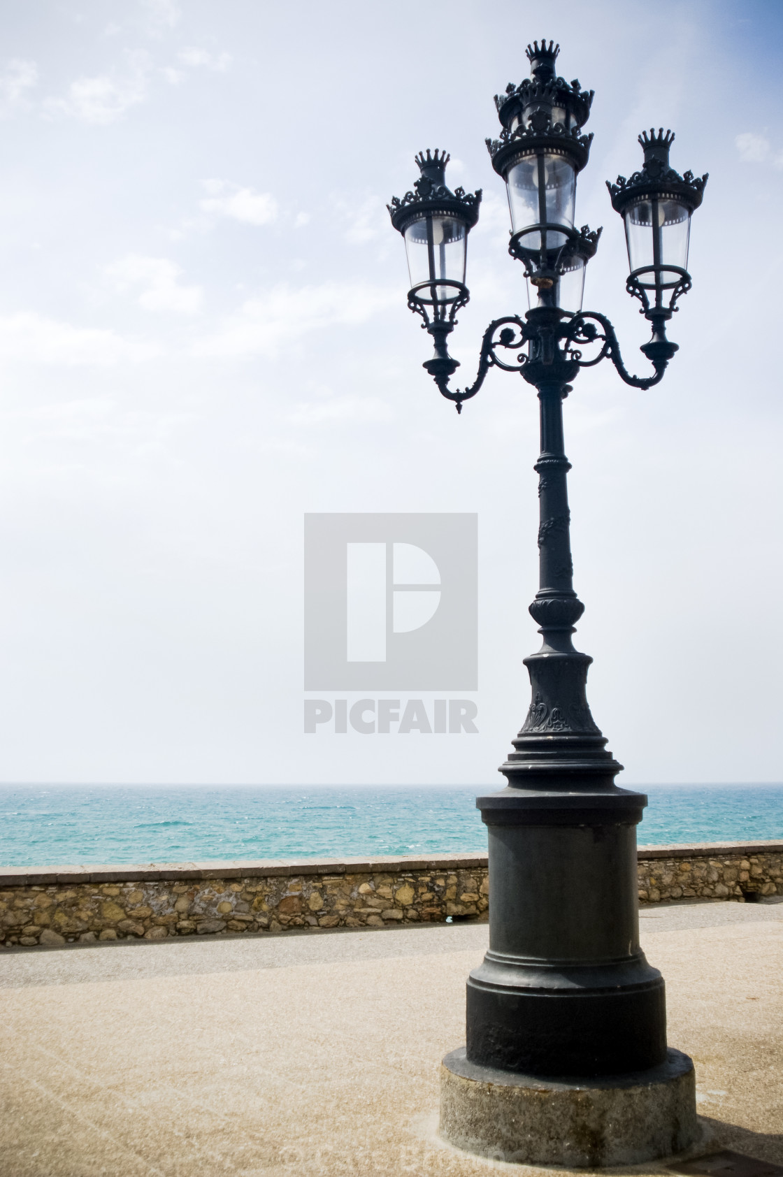 """Street Light in Sitges Spain"" stock image"