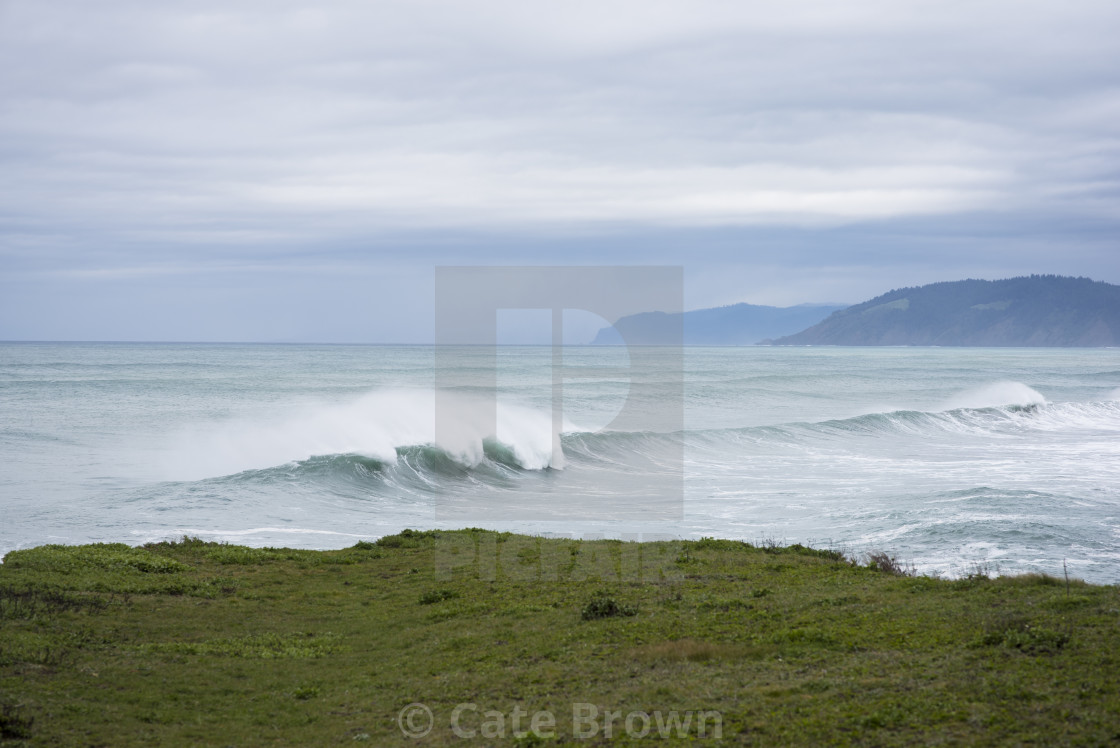 """Ocean Waves in California"" stock image"