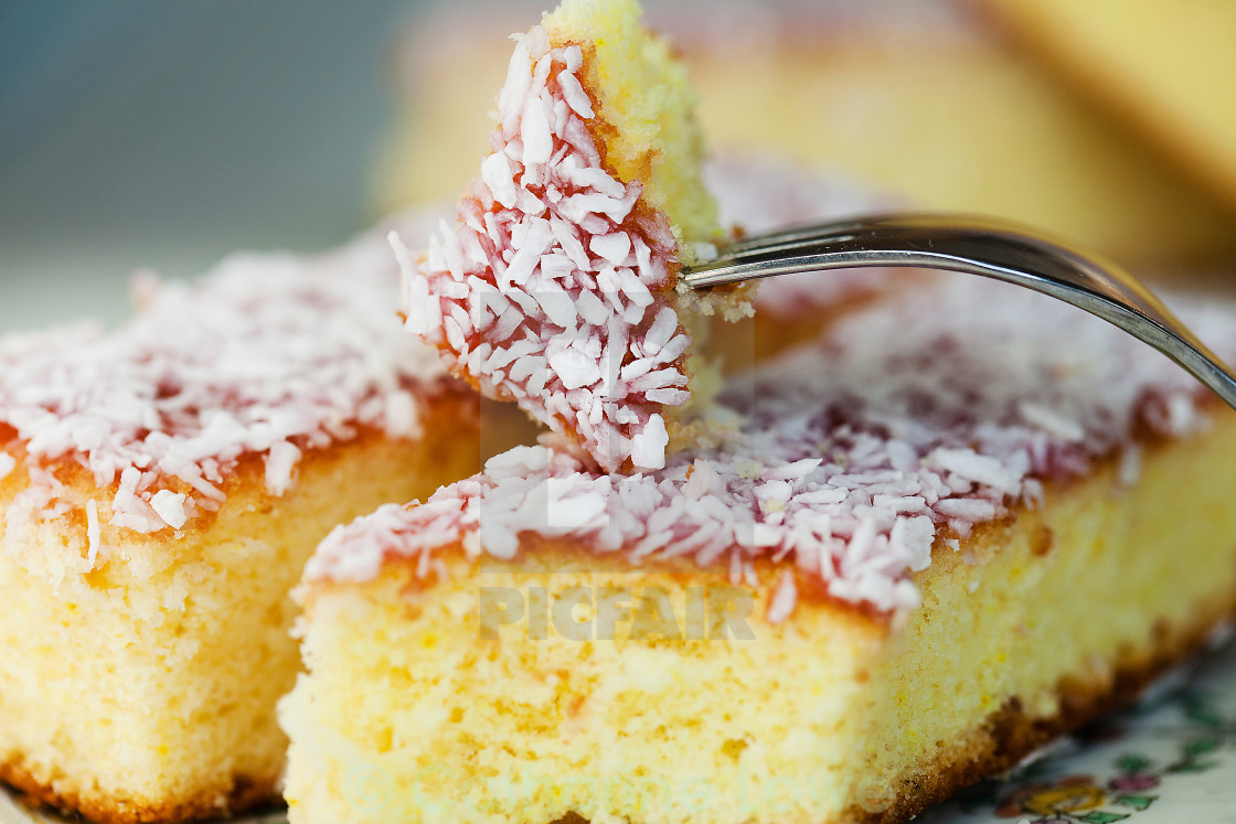 """Bakewell Cake Close Up"" stock image"