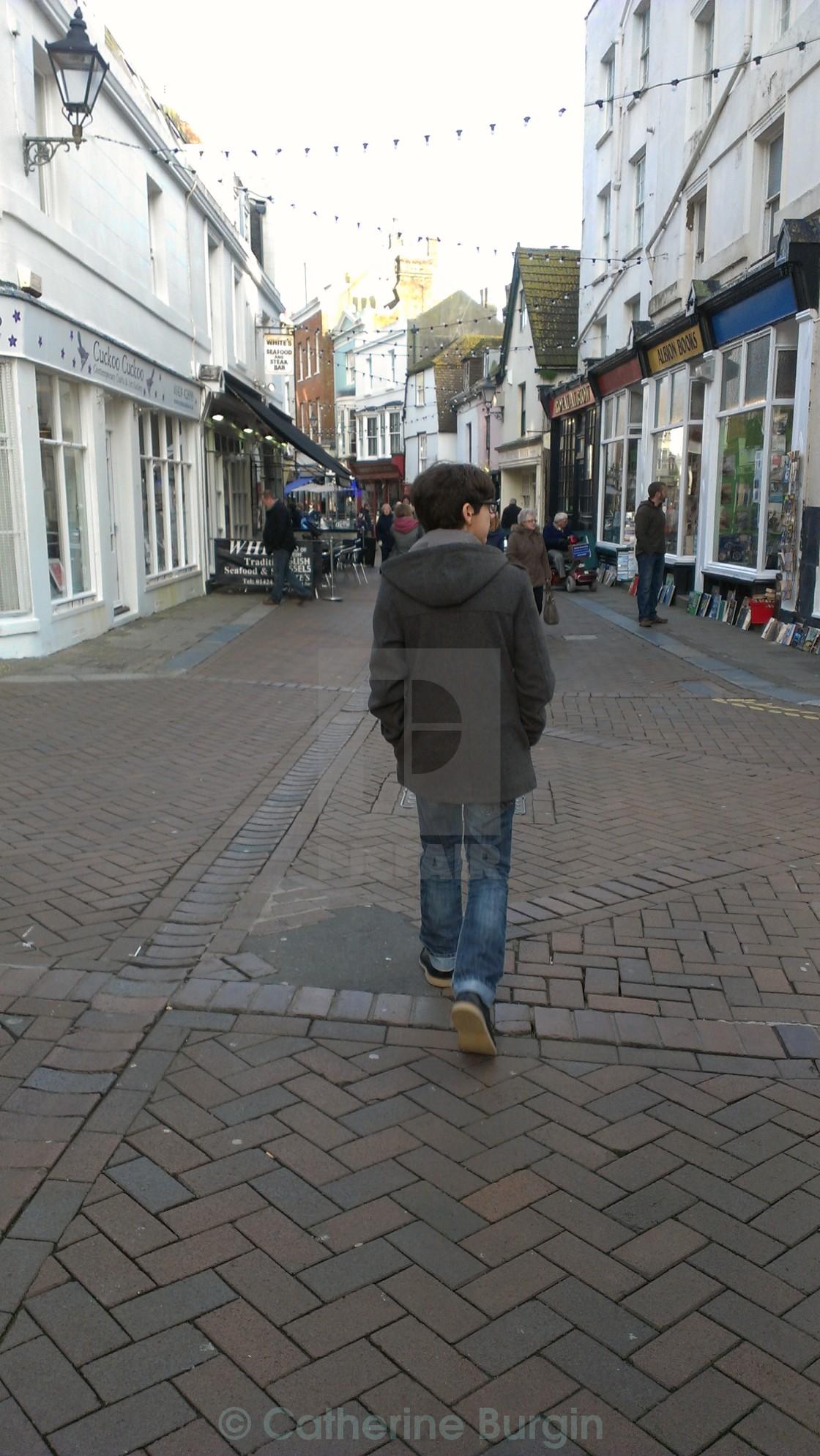 """Walking Hastings"" stock image"