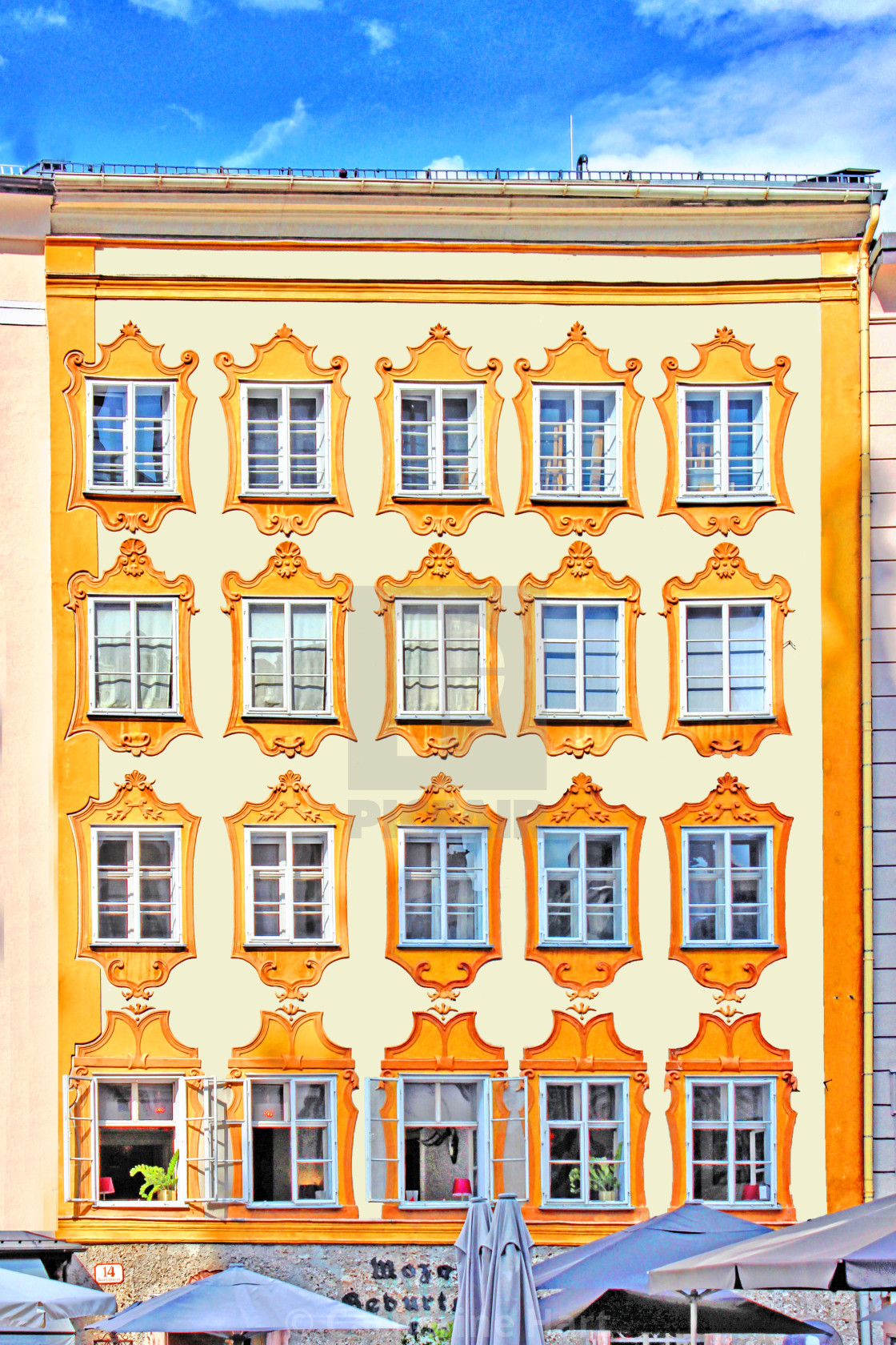 """Mozart Haus"" stock image"