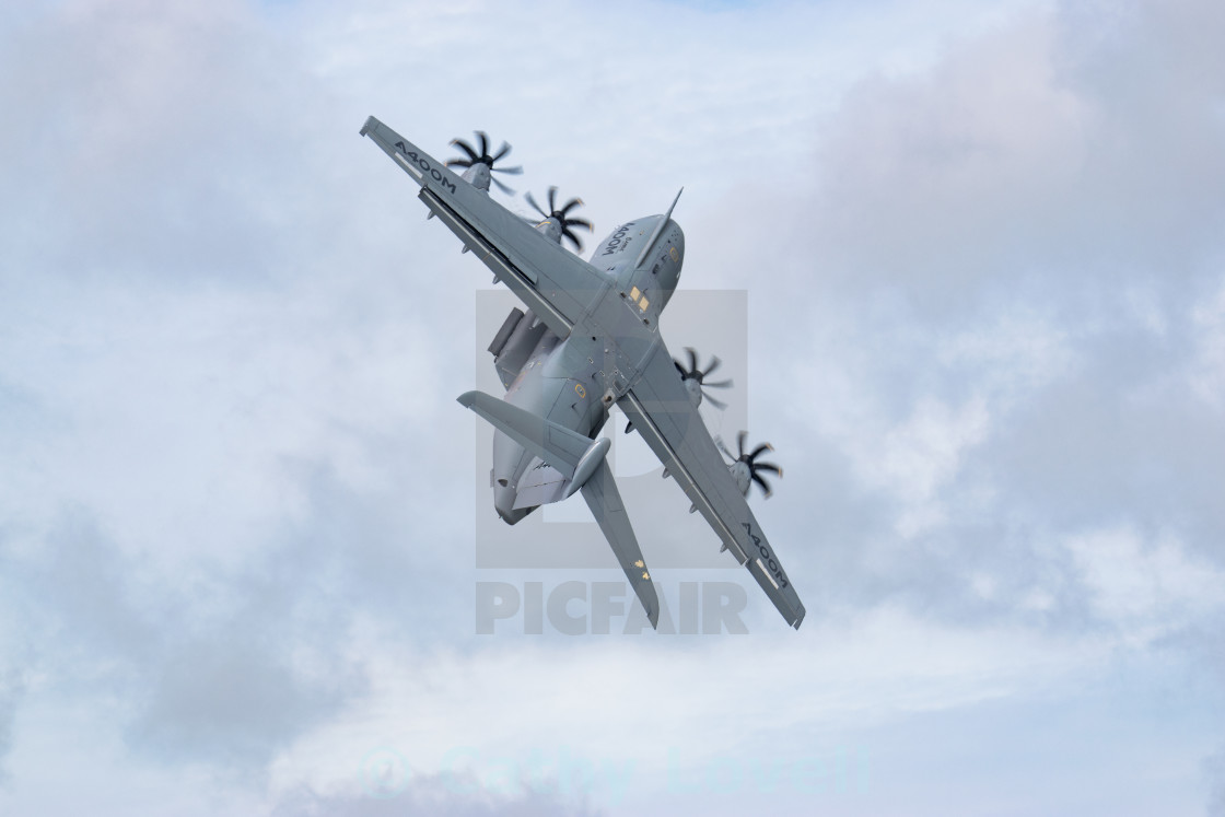 """Airbus A400m Take-off"" stock image"