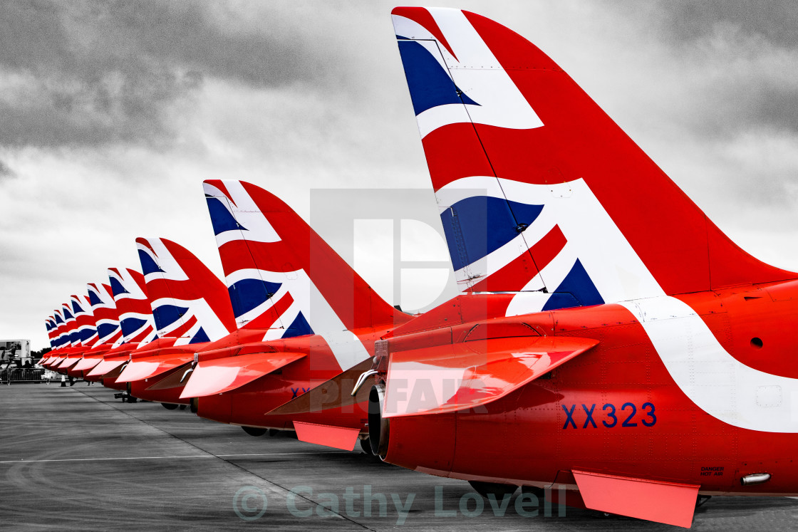 """Red Arrows Lineup"" stock image"