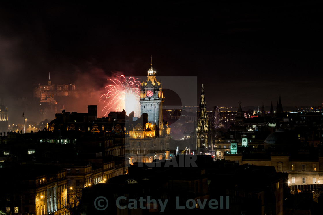 """Edinburgh Fireworks"" stock image"