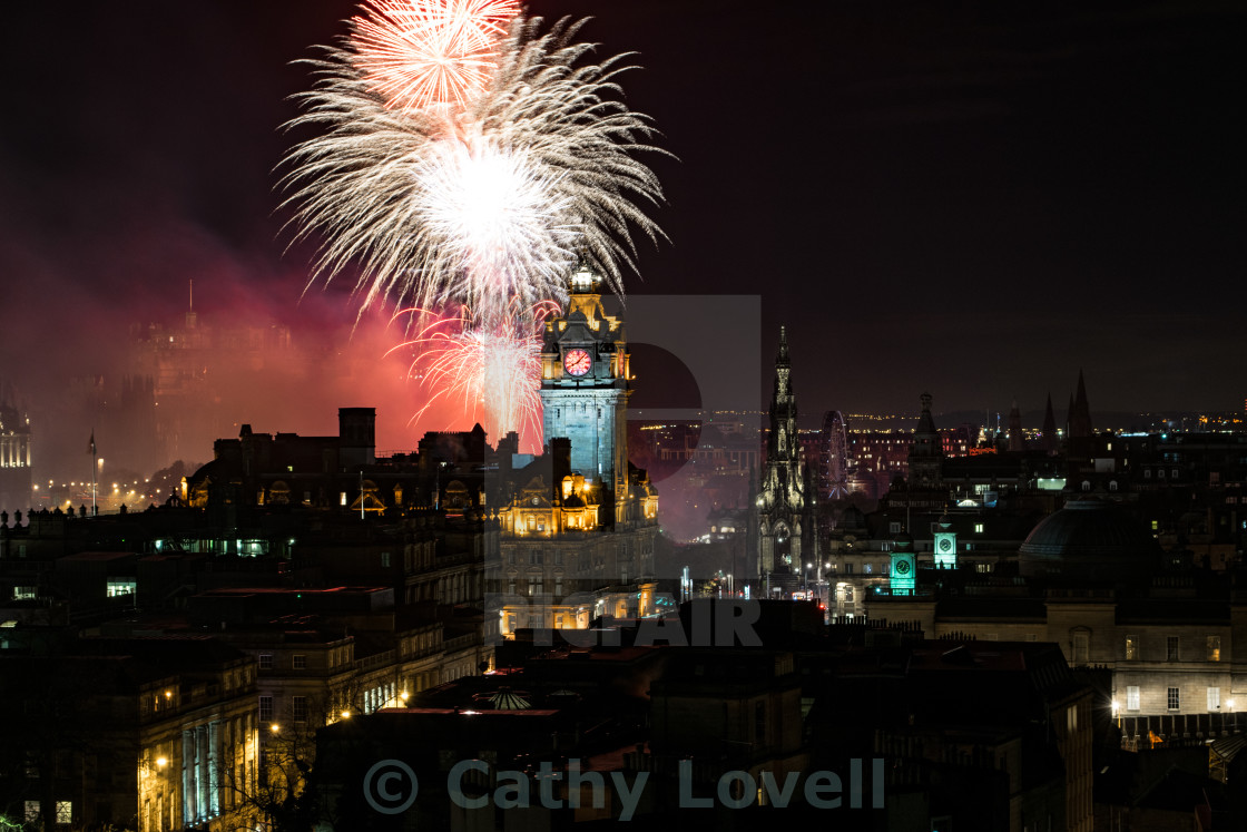 """Edinburgh Diwali Nights"" stock image"