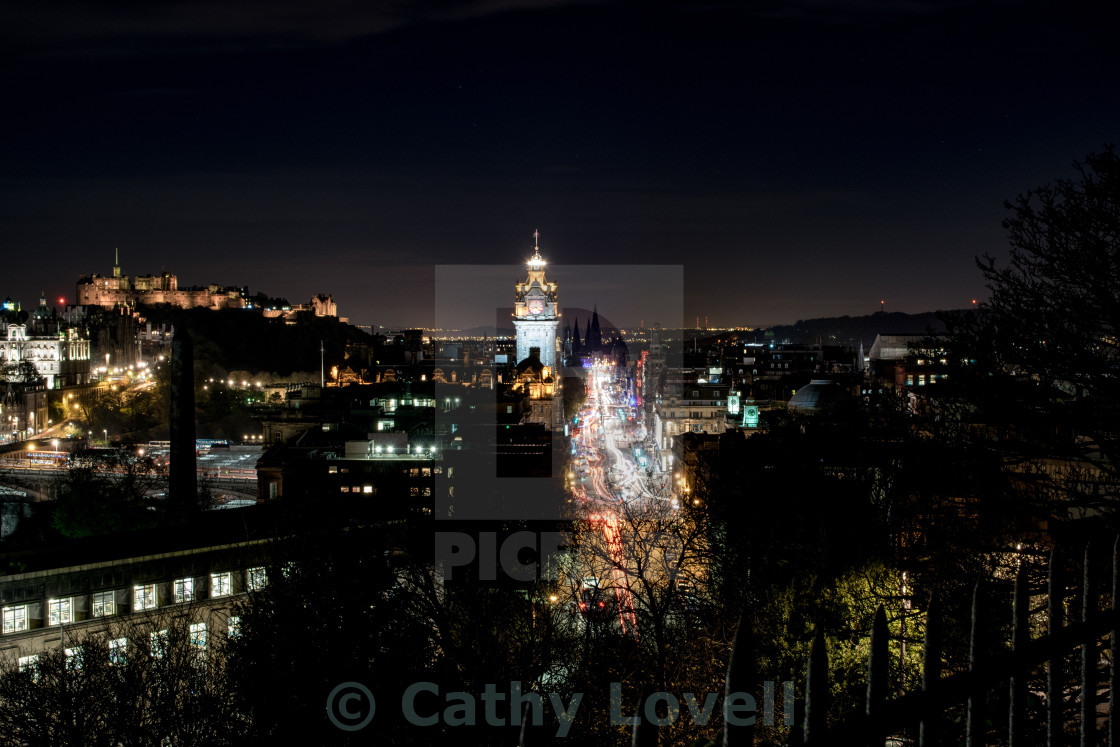 """Edinburgh City Nights"" stock image"