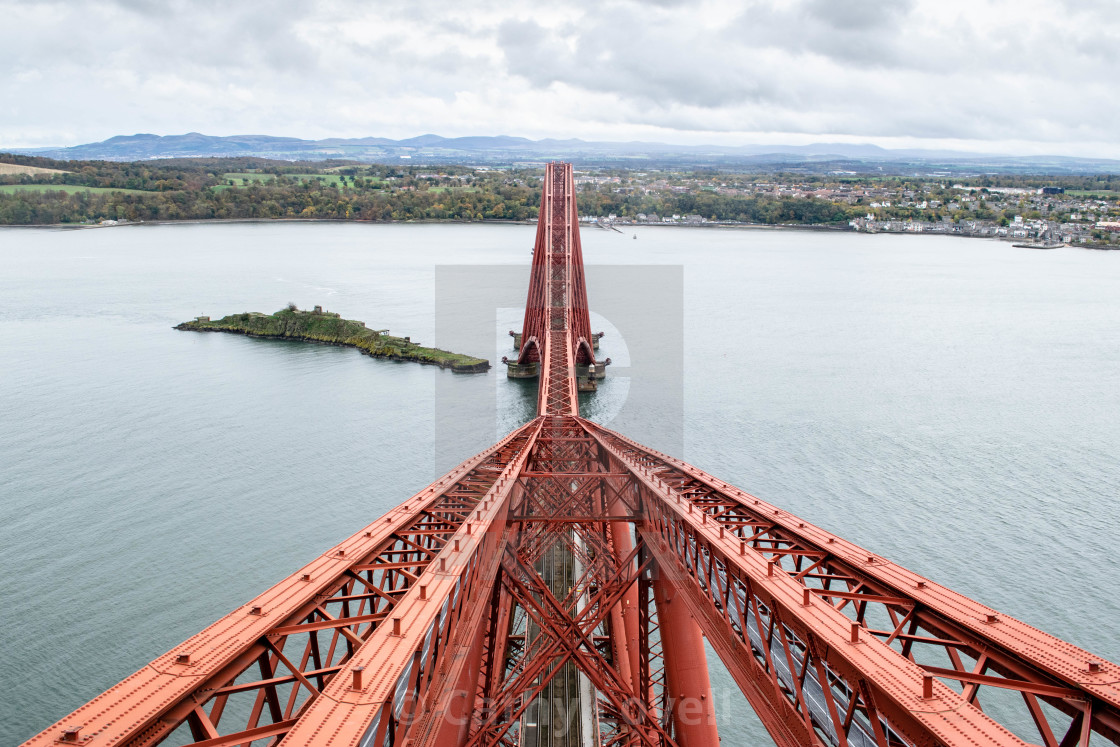 """View from the top of the Forth Bridge"" stock image"