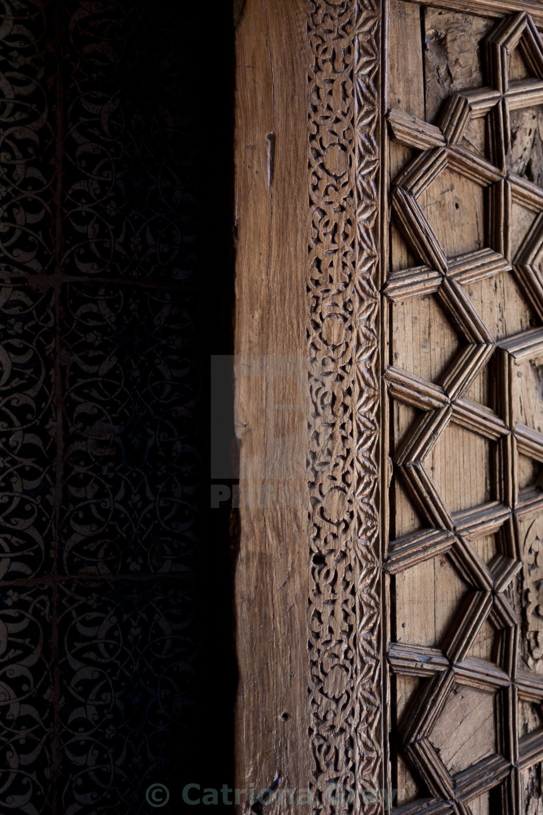"""Ornate door, Samarkand, Uzbekistan"" stock image"