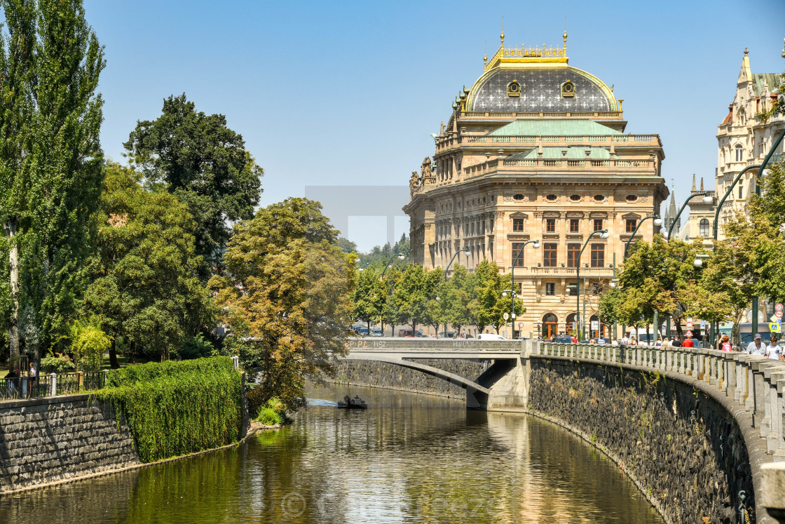 """The National Theatre and opera house in Prague."" stock image"