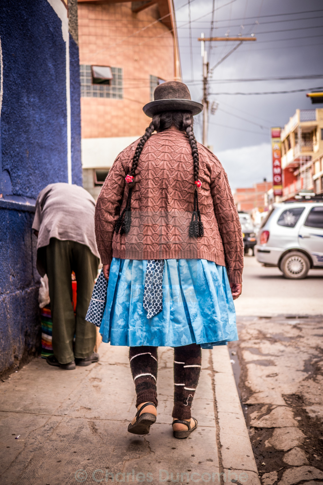 """Woman in Traditional Bolivian Dress"" stock image"