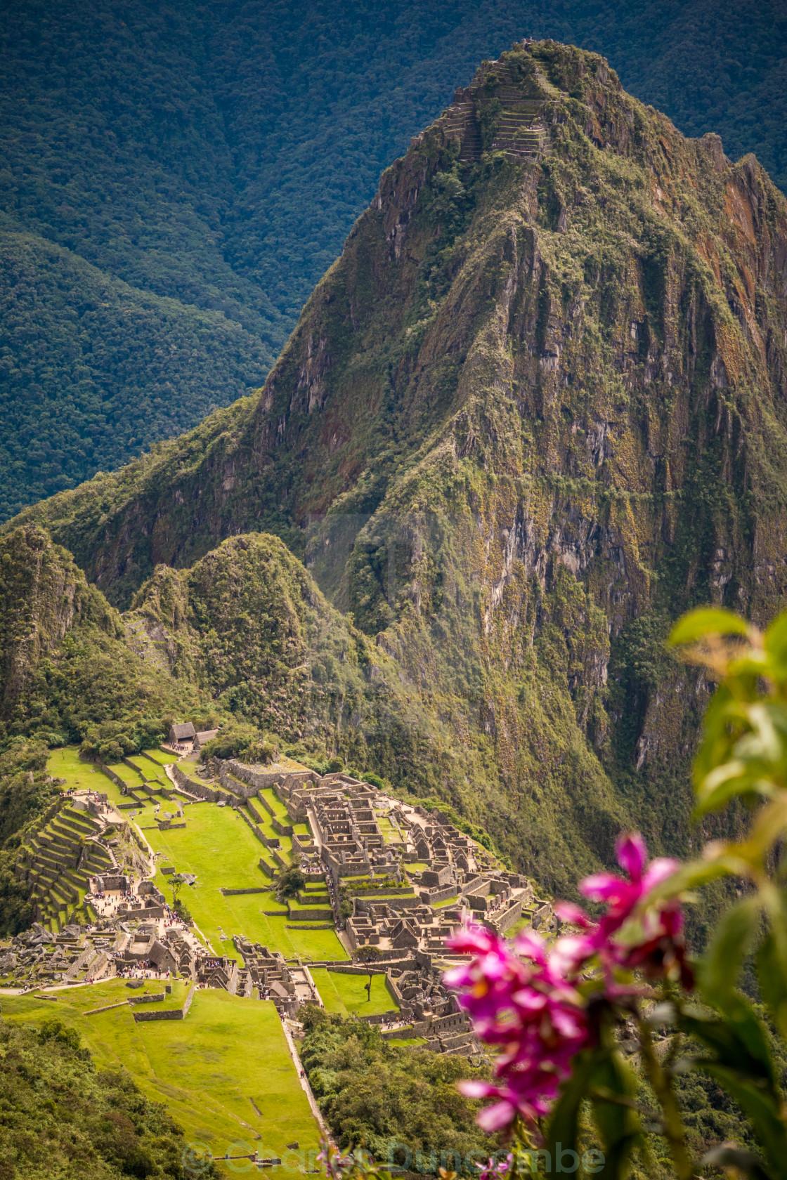 """""""Machu Picchu as seen from Machu Micchu Mountain"""" stock image"""