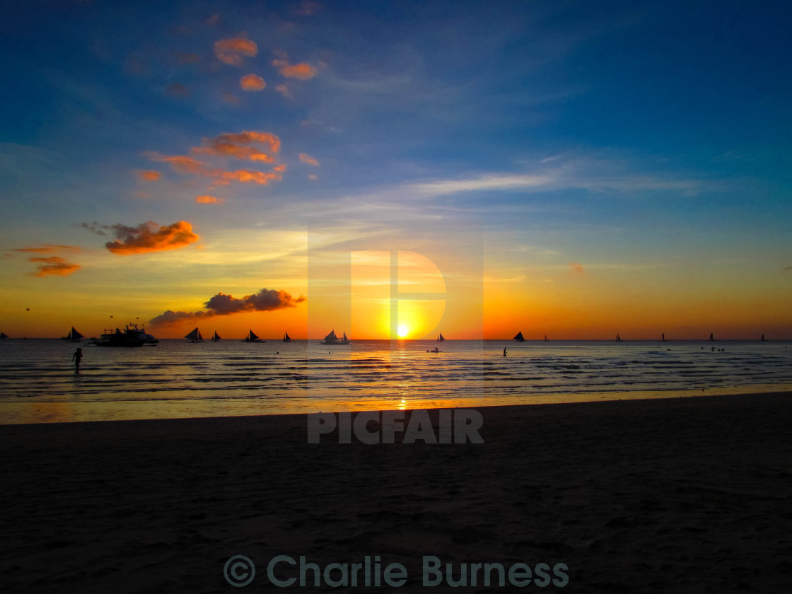 """Boracay Sunset"" stock image"