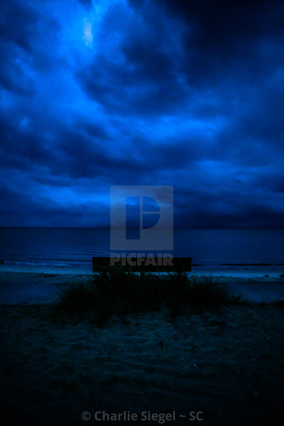 """Stormy Skies over Yarmouth, Massachusetts Beach"" stock image"